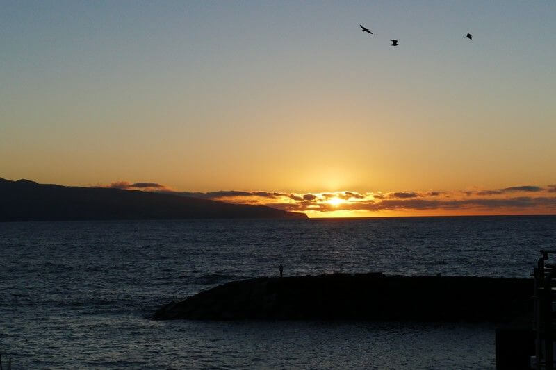 Coucher de soleil aux Açores.