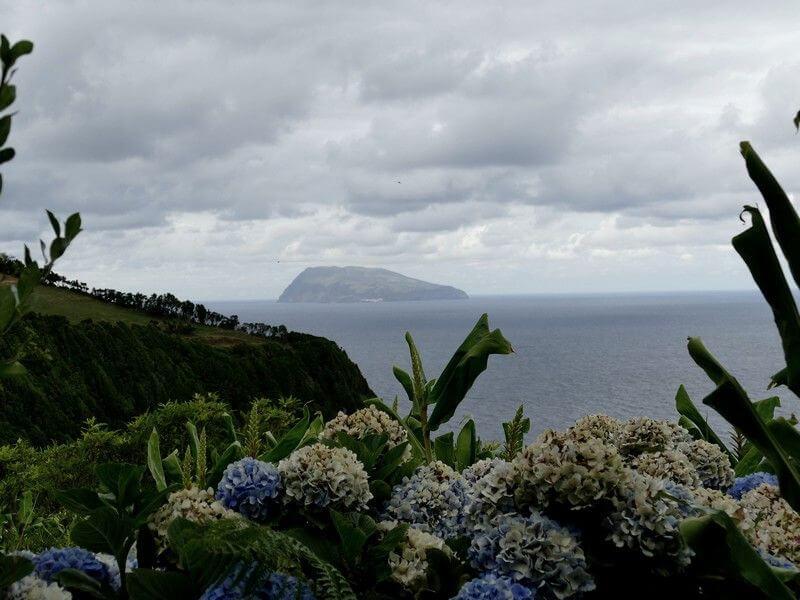 L'île de Corvo dans l'archipel des Açores.