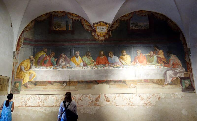 Une fresque de la Renaissance à Florence.