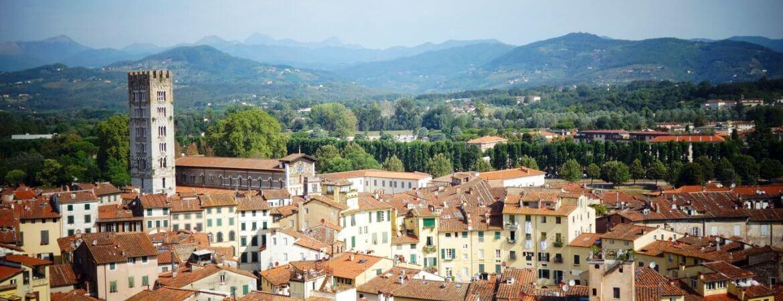 Vue de Lucques en Toscane.