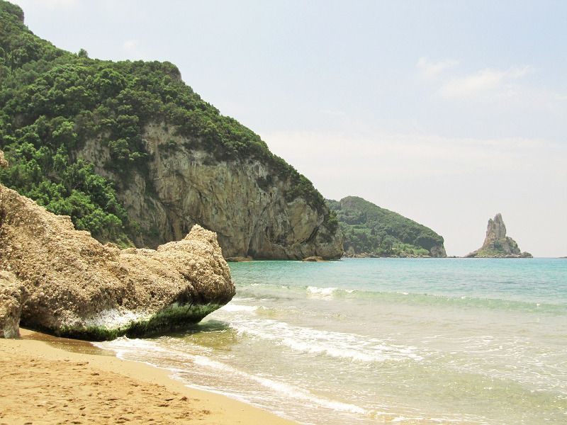Une plage à Corfou.