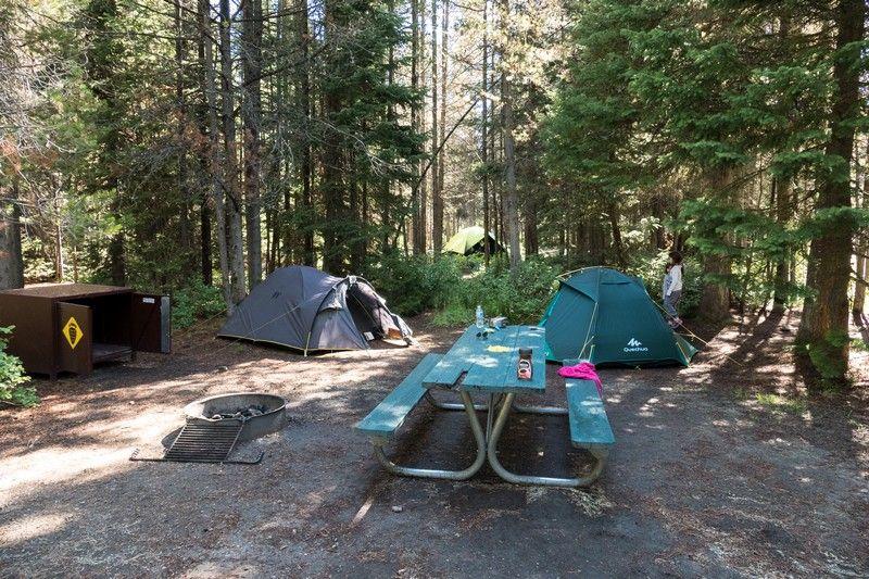 Emplacement de camping aux USA.