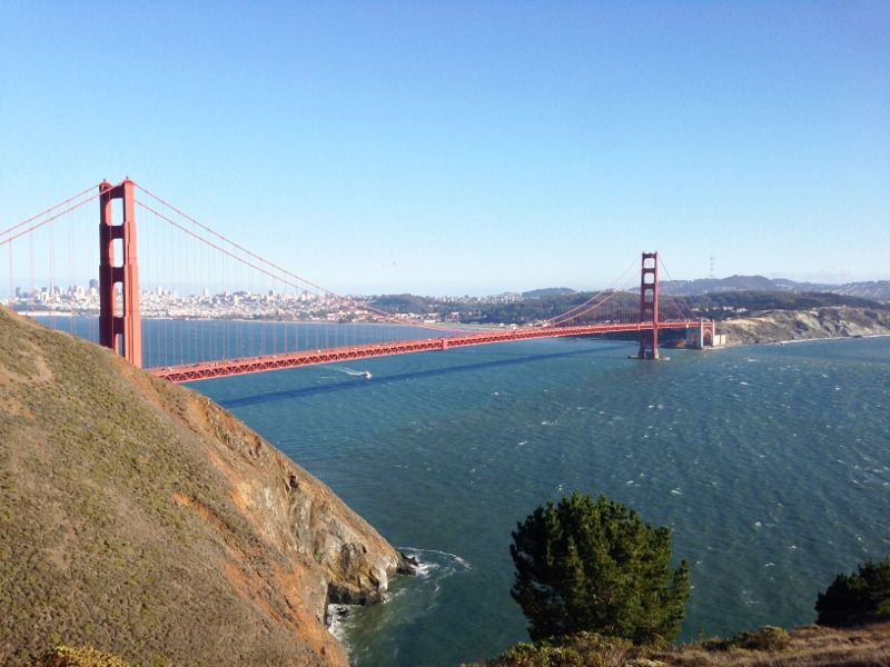 Le Golden Gate à San Francisco.