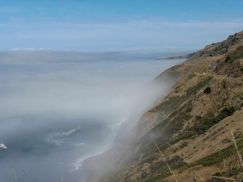 Vue de la côte Pacifique aux USA.
