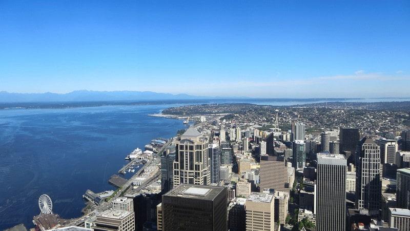 Vue aérienne de Seattle.