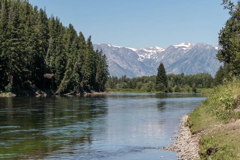 Une rivière dans le parc national de Grand Teton.