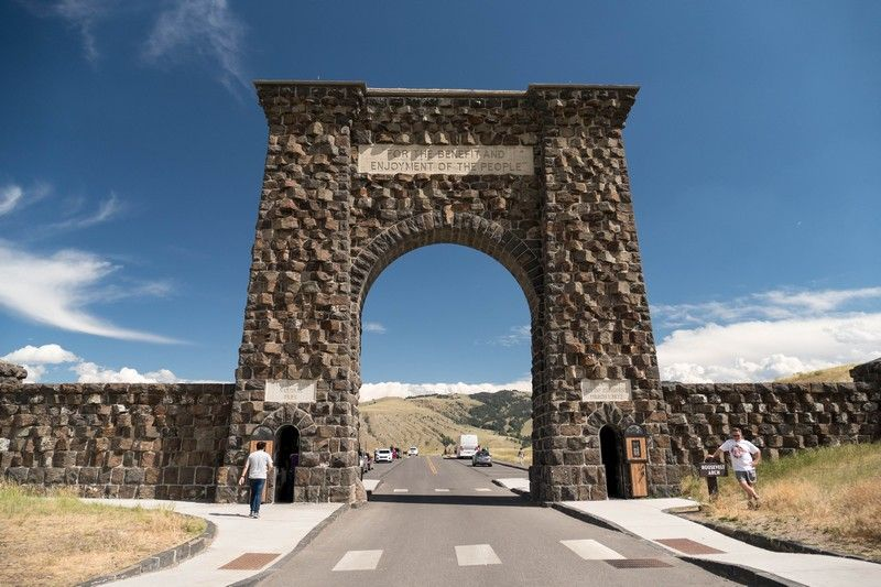 Porte d'entrée du parc national de Yellowstone.