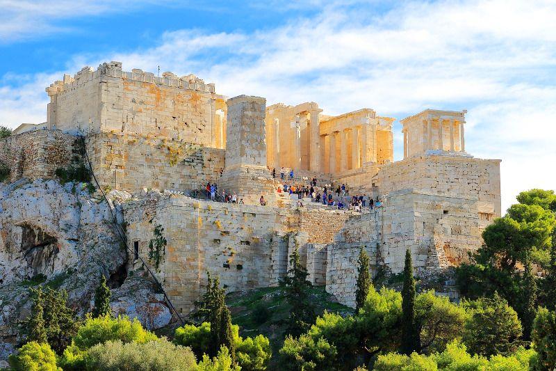 Vue de l'Acropole d'Athènes.
