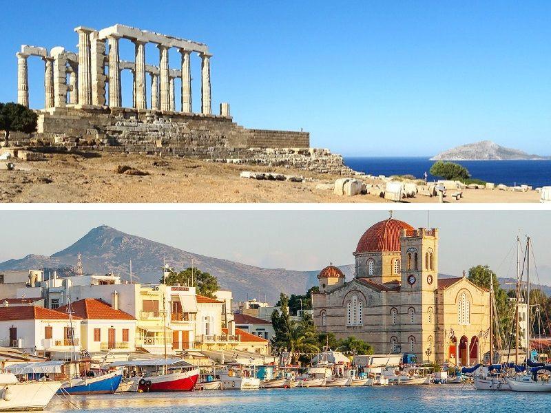 Deux sites à voir autour d'Athènes.