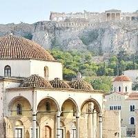 La place Monastiraki à Athènes.