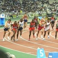 Course aux jeux olympiques d'Athènes.
