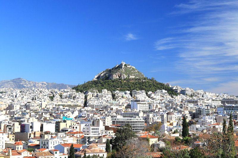 Vue du mont Lycabette à Athènes.