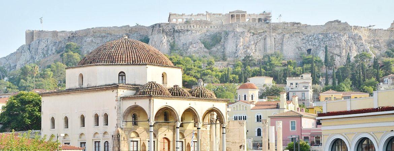 Dans le quartier de Pláka à Athènes.