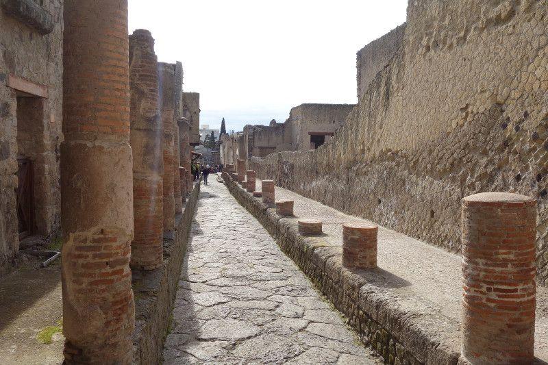 Ruines d'Herculanum près de Naples.