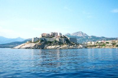 Vue de Calvi en Corse du Nord.