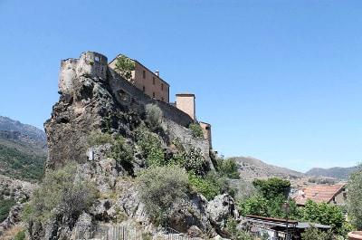 Vue de Corte en Corse du Nord.