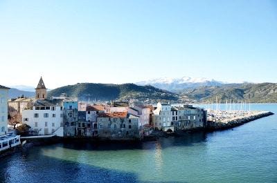 Vue de Saint-Florent en Corse du Nord.