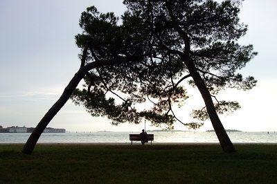 Vue sur la lagune de Venise.