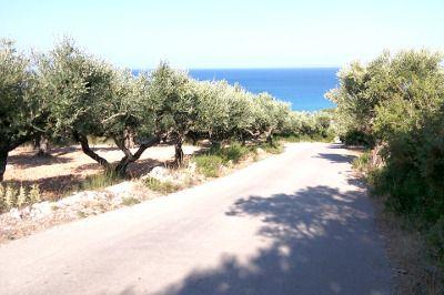 Vue d'une route en Grèce.