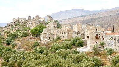 Vieux village abandonné en Grèce.