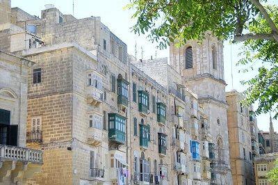 Vieilles façades à La Valette.