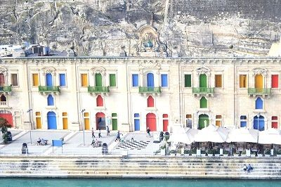Façades colorées à La Valette.