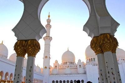 Grande mosquée d'Abu Dhabi.