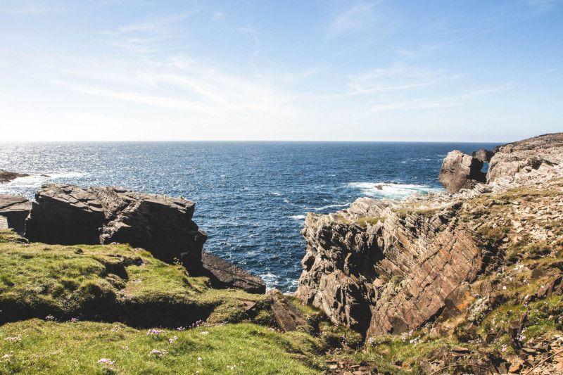 Panorama sur la mer d'Irlande