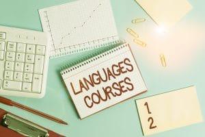 surface de travail pour apprendre les langues