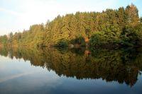 Vue du lac de Robertville