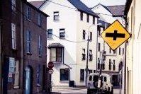 Façades de la ville de Galway