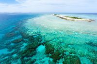 Vue aérienne de la grande barrière de corail