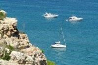 Baie avec ses bateaux à Leucate