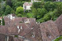 Toitures d'un village du Parc naturel régional des Causses du Quercy