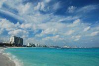 Vue sur une plage de Cancun