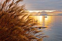 Couché de soleil sur le Lac de Bizerte