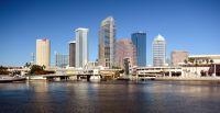 Vue sur les grattes-ciel de Tampa