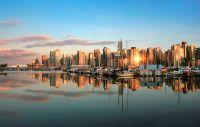 Vue sur la ville de Vancouver et ses grattes ciel