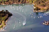 Bateaux naviguant dans le Golfe du Morbihan