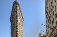 Vue de profil du Flatiron Building