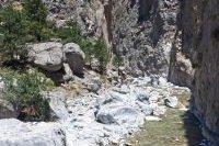 Vue d'un canyon au sein du Parc National de Samaria