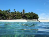 Vue de la mer sur l'île de Chira