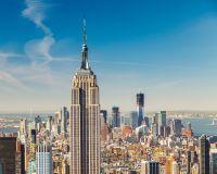 Vue du ciel de l'Empire State Building