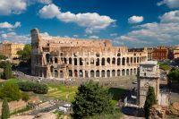 Vue aérienne sur le Colisée