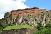 Vue de la façade de la citadelle de Belfort