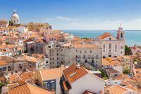 Vue aérienne de Lisbonne