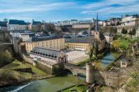 Vue du ciel de la ville de Luxembourg