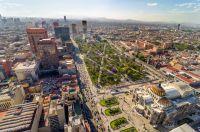 Vue aérienne de Mexico city