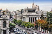 Vue aérienne sur le bâtiments de Madrid