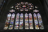 Rosace et vitraux de la Cathédrale Saint-Etienne